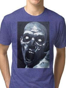 Hungry Zombie- Abstract Zombie Painting Tri-blend T-Shirt