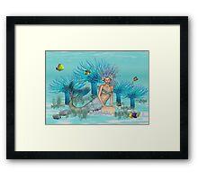 Marina .. the mermaid Framed Print