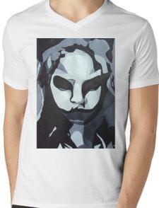 Sinister Zombie- Zombie Girl Painting  Mens V-Neck T-Shirt