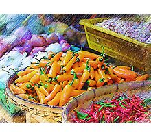 Produce In Pencil Photographic Print