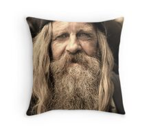 Weathered Man  Throw Pillow