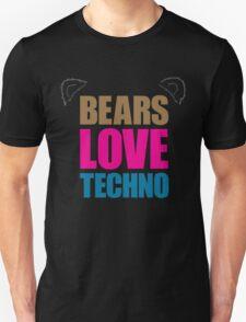 Bears Love Techno Unisex T-Shirt