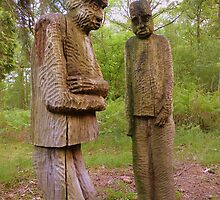 The Lake District: Grizedale Forest Sculptures Series - Private Meeting by Rob Parsons