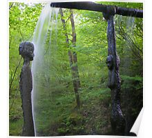 The Lake District: Grizedale Forest Sculptures Series - Bean An T-Visce Poster