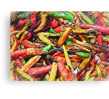 Chili's In Pencil Canvas Print