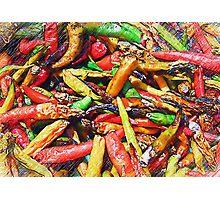 Chili's In Pencil Photographic Print