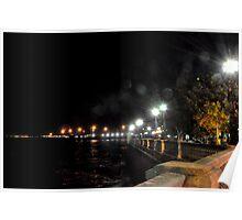 CADIZ at night - Seafront Poster