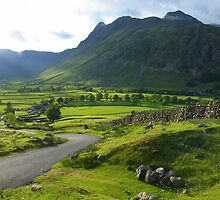 The Lake District: Lighting Up The Langdale valley by Rob Parsons