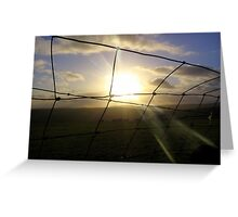 Sunset through Wire Greeting Card