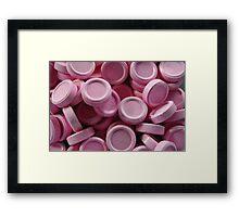 pink lollies Framed Print