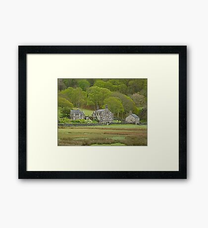 Cottages by the Woods Framed Print