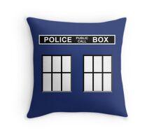 Police Public Call Box - Tardis  Throw Pillow