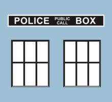 Police Public Call Box - Tardis  One Piece - Short Sleeve