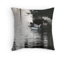 Geese on a Pond Throw Pillow
