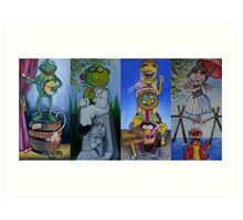 Muppets Haunted Mansion Stretching Room Portraits Art Print