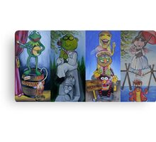 Muppets Haunted Mansion Stretching Room Portraits Metal Print