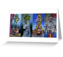 Muppets Haunted Mansion Stretching Room Portraits Greeting Card