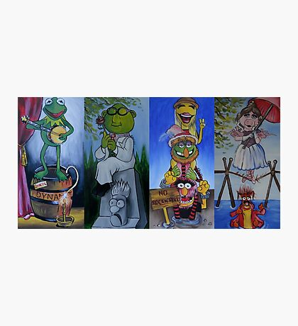 Muppets Haunted Mansion Stretching Room Portraits Photographic Print