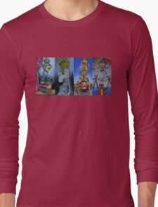 Muppets Haunted Mansion Stretching Room Portraits Long Sleeve T-Shirt
