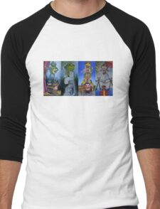 Muppets Haunted Mansion Stretching Room Portraits Men's Baseball ¾ T-Shirt