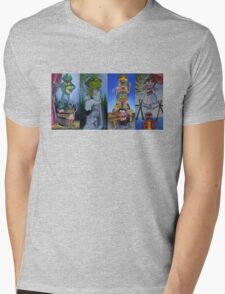 Muppets Haunted Mansion Stretching Room Portraits Mens V-Neck T-Shirt