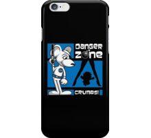 Danger Zone - blue iPhone Case/Skin