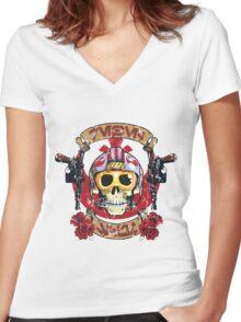 Rebel Scum Women's Fitted V-Neck T-Shirt