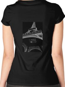 Digital Eiffel Women's Fitted Scoop T-Shirt