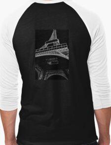Digital Eiffel Men's Baseball ¾ T-Shirt