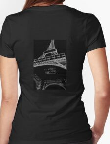 Digital Eiffel Womens Fitted T-Shirt
