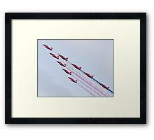 Red Arrows - 2015 Display Tails Framed Print