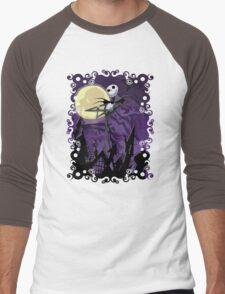 Halloween Skinny Ghost Men's Baseball ¾ T-Shirt