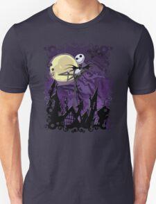 Halloween Skinny Ghost Unisex T-Shirt