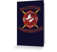 Volunteer Ghostbusters Greeting Card