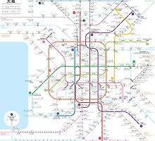 Osaka metro map  by Jug Cerovic
