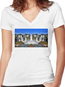 Iguazu Portal Women's Fitted V-Neck T-Shirt
