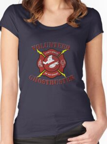 Volunteer Ghostbusters Women's Fitted Scoop T-Shirt