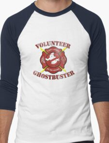 Volunteer Ghostbusters Men's Baseball ¾ T-Shirt