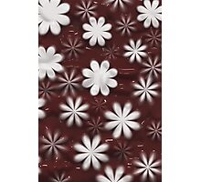 Melted Chocolate and Milk Flowers Pattern Photographic Print