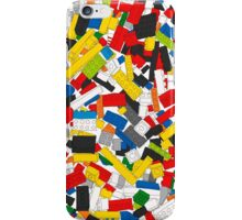 Lots of Coloured Toy Bricks (Lego) iPhone Case/Skin