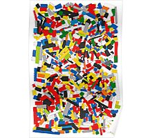 Lots of Coloured Toy Bricks (Lego) Poster