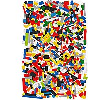 Lots of Coloured Toy Bricks (Lego) Photographic Print