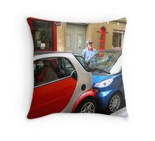 Tight_Squeeze_Parking_in_Paris Throw Pillow