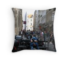 Look Both Ways in Paris Throw Pillow