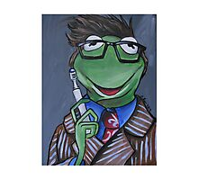 Kermit, Tenth Doctor Photographic Print
