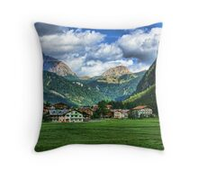 Dwarfed by Nature - The Dolomites, Italy Throw Pillow