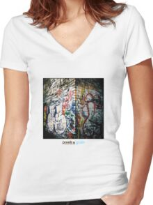 Holga Graffiti Women's Fitted V-Neck T-Shirt