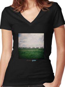Holga Houses Women's Fitted V-Neck T-Shirt