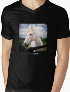 Holga White Horse Mens V-Neck T-Shirt