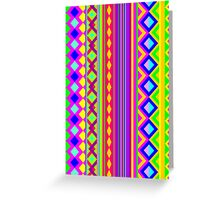 Aztec Psychedelic Chevron Pattern Greeting Card